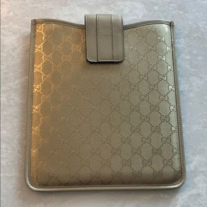 Gold Gucci case tablet iPad laptop